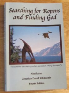 """Searching for Ropens and Finding God"" paperback book"